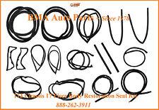W113 COMPLETE SEAL KIT DOOR/TOP/TRUNK/PILLARS 63-71 230SL 250SL 280SL 17 PIECES
