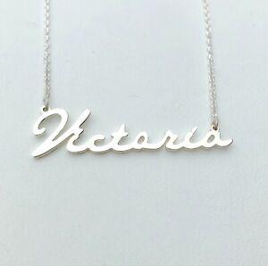 Personalised  Handwriting Name Necklace,925 Silver,Minimalist HANDMADE Jewelery