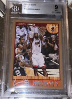 💎POP 2! 💎2013-14 LeBron James PANINI NBA HOOPS GOLD #62 BGS 9 PSA lakers prizm