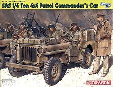 Dragon 1/35 6724 WWII British SAS 1/4 Ton 4x4 Patrol Commander's Car w/2 Figures