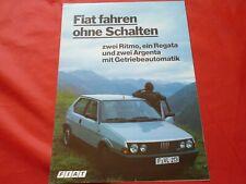 FIAT Ritmo Regata Argenta mit Getriebeautomatik Prospekt Brochure von 1984