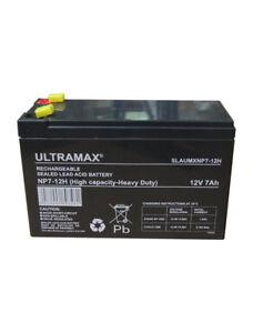 NP7 12 volt 7 ah ULTRAMAX RECHARGEABLE ALARM/ SECURITY BATTERY - HEAVY DUTY
