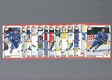 1990-91 SCORE Quebec Nordiques Team Set (13) ''Sakic / Lafleur'' NHL Hockey Card