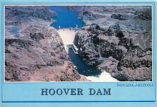 HOOVER DAM AERIAL VIEW NEVADA ARIZONA PM 1987 POSTCARD