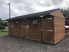 WOODEN STABLES MOBILE SHELTER Horse Stables 30X12 Field Shelter mobile Or Static