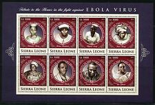 SIERRA LEONE 2016 TRIBUTE TO HEROES IN THE FIGHT AGAINST EBOLA  SHEET IV MINT NH