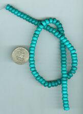 8mm 16 Inch Strand Stabilized Turqoise Roundel Beads Fox Mine