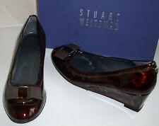 STUART WEITZMAN Tortoise Mid Wedge Bow Court Shoes Size UK 6.5 EU 40 US 9
