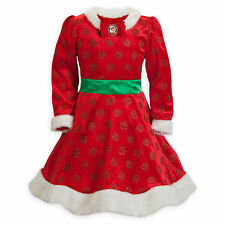 Disney Store Santa Minnie Mouse Christmas Holiday Deluxe Dress Costume XL 14/16