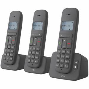Telekom Sinus CA37 trio DECT-Telefon mit AB, schnurloses Festnetzttelefon