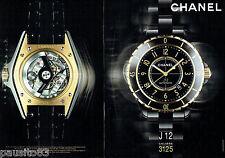 PUBLICITE ADVERTISING 056  2010  Chanel la montre J 12 calibre 125 (2p)