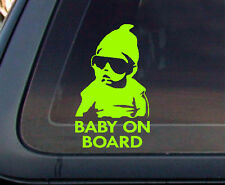 Baby on Board Carlos Hangover Funny Car Decal / Sticker - Lime Green