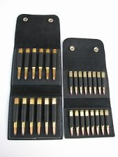 Leather AMMO wallet pouches .222 .223 holds 16 rounds & 325 458 300mag 338 444