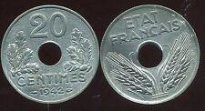 20 CENTIMES ZINC 1942 SUP