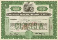Associated Gas and Electric > New York power utility stock certificate 1 share