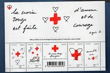 France La Feuille F5001 Croix Rouge Amour et Courage 2015 Neuf Luxe