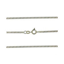 """NEW 18ct White Gold 1mm Curb Hanging Chain 18"""" (460mm) Quality Hallmarked 750"""