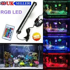 Aquarium Fish Tank LED Light RGB Strip Light Bar Lamp Light Waterproof UK Plug
