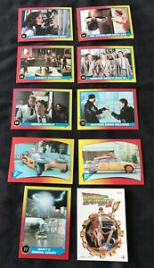 Topps BACK TO THE FUTURE 2 movie lot - 9 cards & 1 sticker - excellent