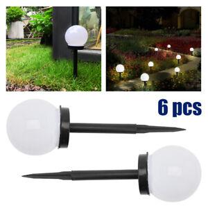 Solar Round Ball Globe LED Garden Path Ground Lights Stake Lighting  Security