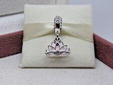 W/Box Pandora Serene Lotus Dangle Charm 797259CZ Canada Asia Excl. NO US Release
