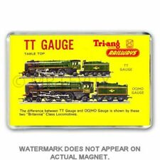 TRI-ANG (Triang) HO/OO loco comparison advert for TT GAUGE JUMBO FRIDGE  MAGNET