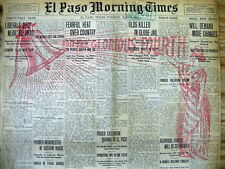 1911 El Paso Texas newspaper July Fourth Independence Day Red Overprint Display