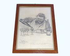 Lithographie signiert datiert Club Eintracht 1888 Christian W. Allers B-589