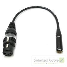25cm Tiny-XLR (m) auf XLR (w) REAN Mini Adapter Mikrofonkabel Blackmagic Kamera