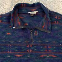 Redhead Vintage 90s XXL Native Southwestern Pattern Pullover Fleece 2XL Made USA