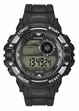 Sekonda Men's Digital Dual Time Chronograph Watch Black & Silver 1522