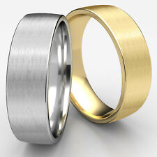 7.5mm Satin Finished European Side Profile Man Men's Gold Wedding Band Ring