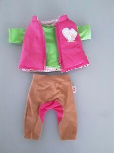 Baby Born   Reitkleidung  Hose  Weste Shirt super