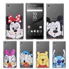 Soft Silicone Cartoon Case Clear Cover For Sony Xperia X L1 XA1 Z3 Z5 XZ Premium