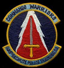 USAF 6009th Security Police Training SQ Commando Warrior Clark Patch T&B