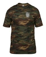 MANCHESTER CITY 3 LIONS CLUB AND COUNTRY SMALL CREST CAMO T-SHIRT MENS
