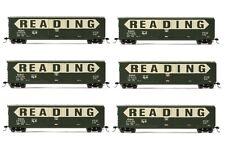 Rivarossi Reading Railroad Plug Door Box Car HO Scale Train Car - Set Of 6 Cars