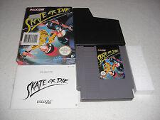 Skate or Die NES komplett mit OVP und Anleitung