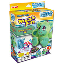 Wuggle Pets Funny Monkey Kit Ages 4 & Up Brand New As Seen On TV Stuffed Animal