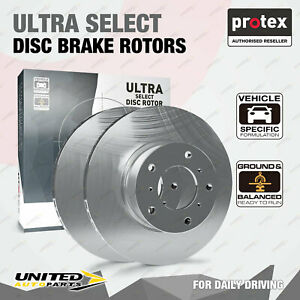 2 Rear Protex Disc Brake Rotors for Bentley Continental GT 6.0L 12Cyl 06 - 11