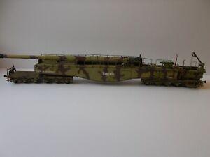 1:72 WW2 BUILT & PAINTED GERMAN K5 LEOPOLD 280CM RAIL GUN