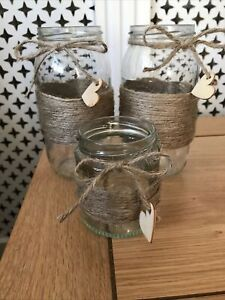 3 X Table Decoration Vases Jars Wedding Party Candle Flowers Event