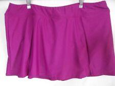184377daf46f3 Maxine of Hollywood Skirted Swim Bathing Suit Bikini Bottom Plum Plus Sz 20w