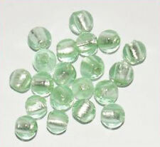 Silverfoil-Perlen, apfelgrün (Nr. 09) ca. 10mm 20Stk