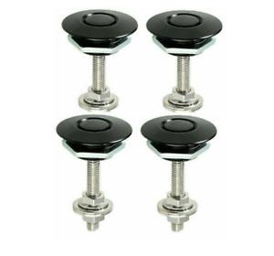 4 Pcs Car Bumper Latch Kit Push Button Quick Release Hood Bonnet Pins Lock Clip