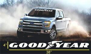 GoodYear Windshield Banners ford dodge chevrolet Cars Stickers Decals  Graphics