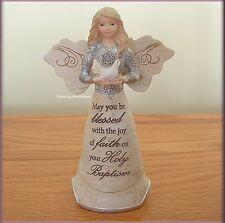 BAPTISM ANGEL FIGURINE SEASHELL & BIRD BY PAVILION ELEMENTS FREE U. S. SHIPPING