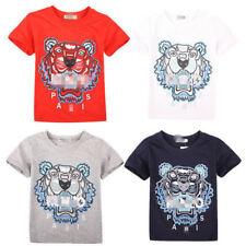 2019  Kids' Boys Girls Sports Short-sleeved T-shirt 4 Color  2-13Y