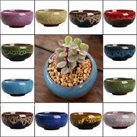 Small ceramic succulent plant pot flower planter garden shop decor 1pcs set 2019