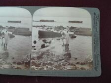 Stereoview Underwood & Underwood Ruins Of Ancient Tyre Ezekiel Syria 1900 (O)